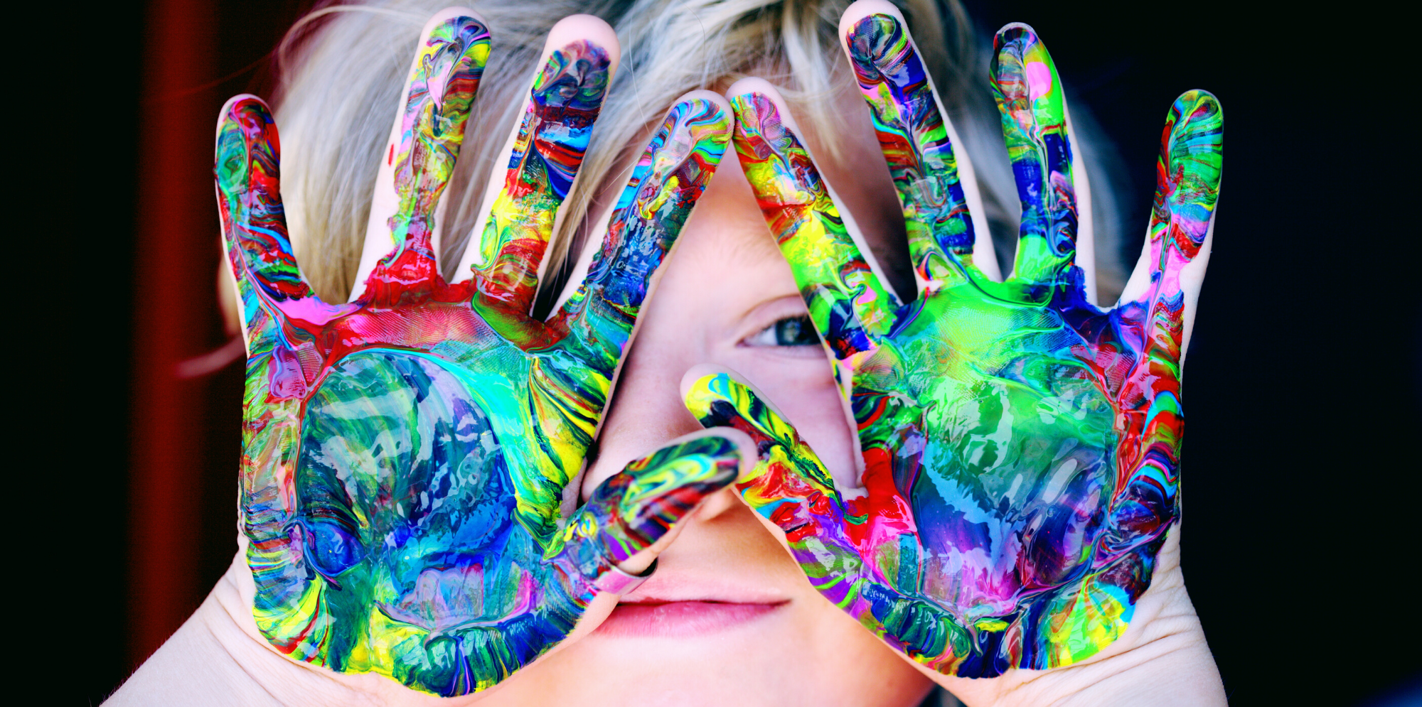 Paint on Child's Hands - Valex Federal Credit Union